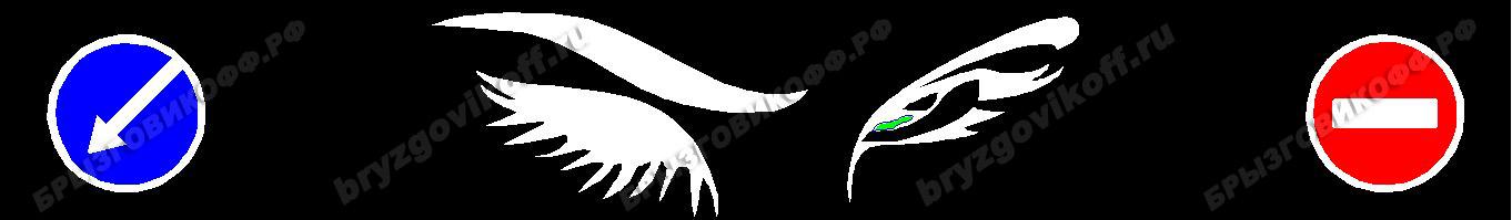 Брызговик бампера - 00103.014 - Глаза